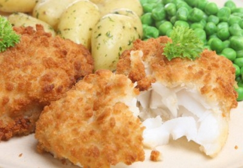 Breaded cod fillets for Breaded pan fried fish