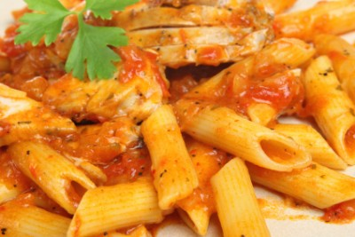 penne chicken Penne with Chicken and Veggies