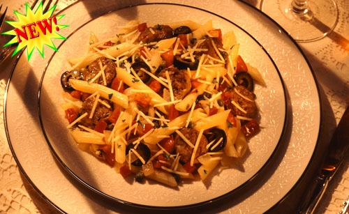 Pasta Puttanesca With Hot Sausage And Bocconcini Recipe ...