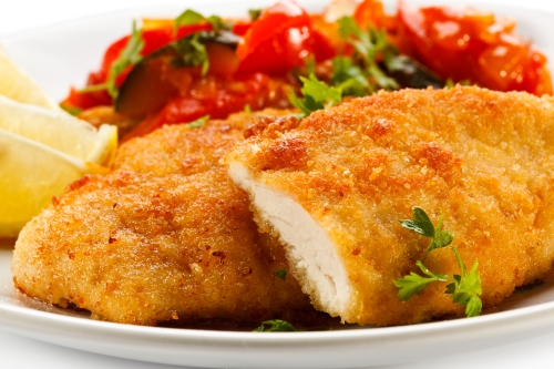 Chicken cutlets and tomtoe sauce
