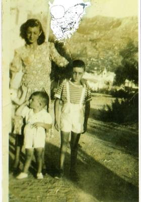 My Nona Flora and my father in Naples, Italy :circa 1940's