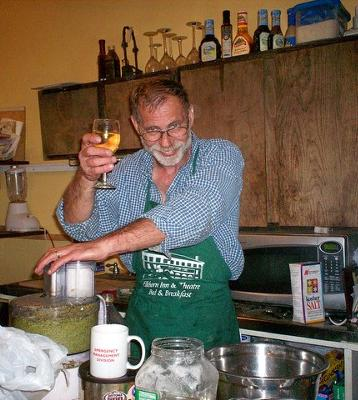 Chef Dan  at the Pesto Processing Party!