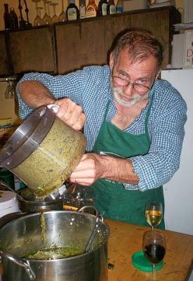 Chef Dan, Pesto Processing!