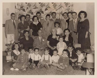 Our family circa 1950. Don't you just love the style of dress?